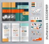 business brochure template... | Shutterstock .eps vector #332208989