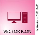 pc icon. one of set web icons