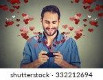 Portrait Happy Man Sending Lov...