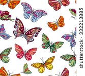 seamless pattern with... | Shutterstock .eps vector #332213885