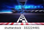finish line on the racetrack in ... | Shutterstock . vector #332224481