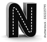 road letter alphabet font 3d...   Shutterstock . vector #332225795