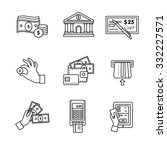 banking icons thin line art set.... | Shutterstock .eps vector #332227571