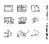 web and app development ...   Shutterstock .eps vector #332228537