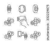 thin line art icons set. modern ... | Shutterstock .eps vector #332229875