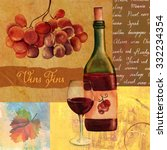 Vintage Style Wine Collage Wit...
