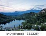 mount shasta  black butte  ... | Shutterstock . vector #3322384