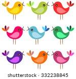 Cute Colorful Birds. Cartoon...