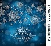 christmas poster   illustration ... | Shutterstock .eps vector #332238875