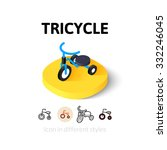 tricycle icon  vector symbol in ... | Shutterstock .eps vector #332246045