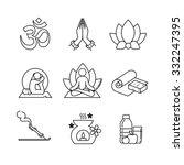 Yoga Thin Line Art Icons Set....