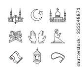 muslim islam prayer and ramadan ... | Shutterstock .eps vector #332248871