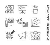 business presentation ... | Shutterstock .eps vector #332249105