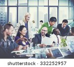 business people team teamwork... | Shutterstock . vector #332252957