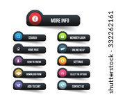 black website buttons design