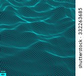 Water Surface. Wavy Grid...