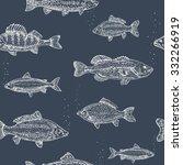 vintage marine pattern. hand... | Shutterstock .eps vector #332266919
