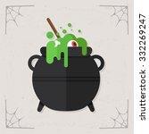 cauldron icon. vector halloween ... | Shutterstock .eps vector #332269247