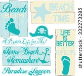 beach signs and sayings | Shutterstock .eps vector #332273285