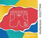 training pants line icon | Shutterstock .eps vector #332277344