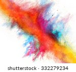 launched colorful powder on... | Shutterstock . vector #332279234