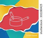 pot line icon | Shutterstock .eps vector #332280425