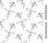 hand drawn stevia branch... | Shutterstock .eps vector #332281661