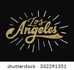 vintage hand lettered textured... | Shutterstock .eps vector #332291351