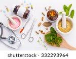 herbal medicine vs chemical... | Shutterstock . vector #332293964