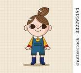 lady girl cartoon theme elements   Shutterstock .eps vector #332295191