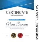 vector certificate template. | Shutterstock .eps vector #332295497