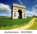 arc de triomphe  paris france... | Shutterstock . vector #33229801