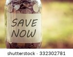 save money for investment... | Shutterstock . vector #332302781