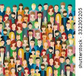 the crowd of abstract people.... | Shutterstock .eps vector #332305205