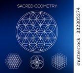 sacred geometry. hipster... | Shutterstock .eps vector #332305274