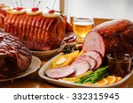 Roasted Turkey And Ham For...