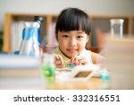 little asian girl having... | Shutterstock . vector #332316551