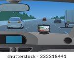 event data recorder drive... | Shutterstock .eps vector #332318441