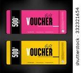 gift voucher template modern...   Shutterstock .eps vector #332321654