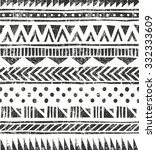 hand drawn seamless  texture.... | Shutterstock .eps vector #332333609