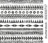 hand drawn tribal pattern.... | Shutterstock .eps vector #332333717