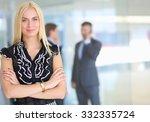 business woman standing in... | Shutterstock . vector #332335724