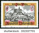 austria   circa 1983  a stamp... | Shutterstock . vector #332337701