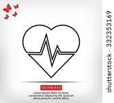 the heart and cardiogram icon | Shutterstock .eps vector #332353169