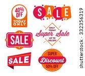 sale banner and emblem | Shutterstock .eps vector #332356319
