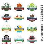set of sport vector icons ... | Shutterstock .eps vector #332356595