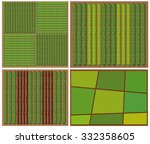 Pattern Of Crops From Top View...