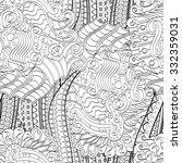 tracery seamless calming... | Shutterstock . vector #332359031