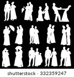 illustration with wedding... | Shutterstock .eps vector #332359247