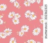 margaret flower pattern | Shutterstock .eps vector #332362325